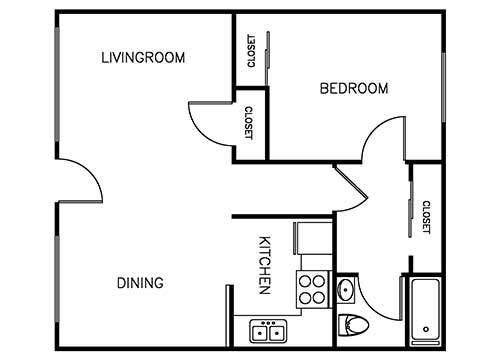 Palma Imperial 1 bedroom 1 bath 675 sqft floor plan 3